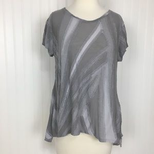 2 for $10 Vera Wang short sleeve ruff edge top M
